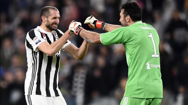 """L'annuncio della Juventus: """"Chiellini e Buffon rinnovano fino al 2021"""""""