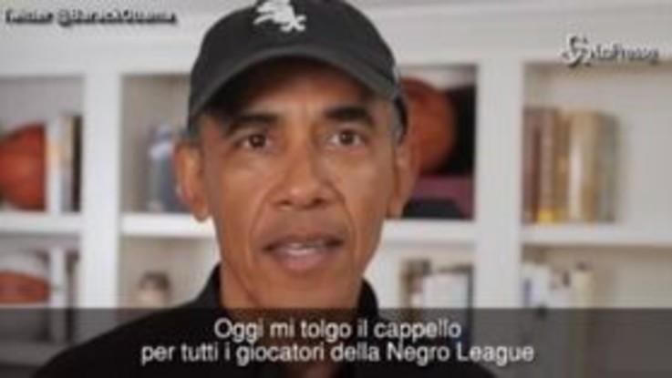 Omaggio di Obama ai grandi giocatori afroamericani di baseball
