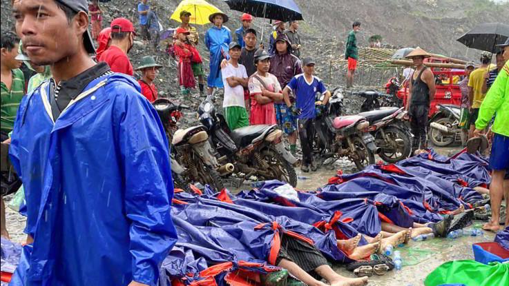 Myanmar, tragedia in miniera di giada: una frana fa 123 morti