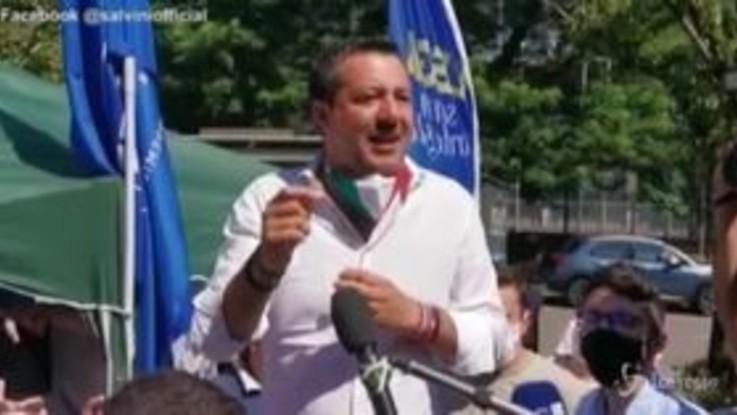 """Salvini: """"Il governo litiga su tutto e i cantieri rimangono bloccati"""""""