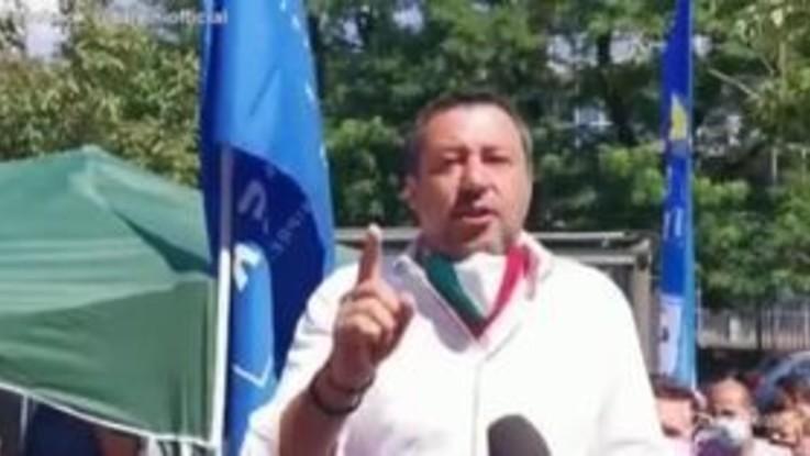 """Salvini: """"A Milano impegno per mandare a casa il Pd"""""""
