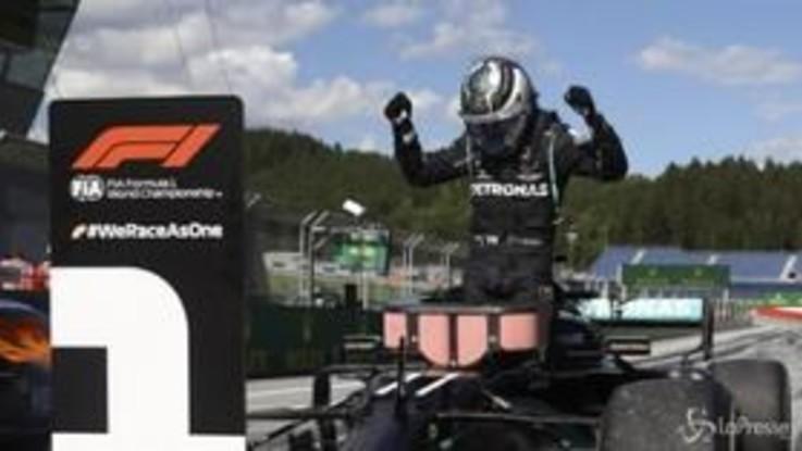F1, Gp Austria: vince Bottas davanti a Leclerc