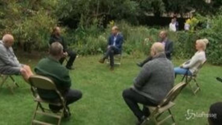 GB, il principe William visita una struttura per senzatetto
