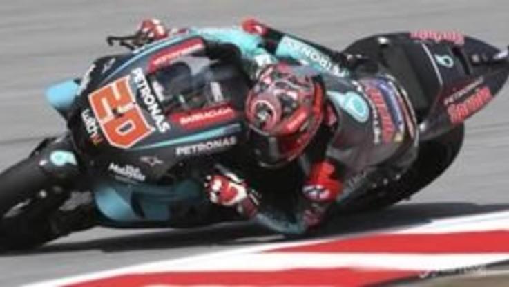 MotoGp: il primo squillo è di Quartararo, brutta caduta per Marquez