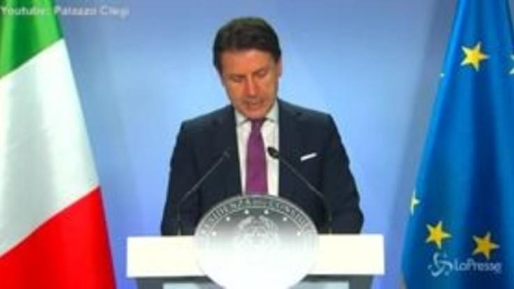 """Conte: """"Ringrazio maggioranza e chi da opposizione ha capito momento"""""""