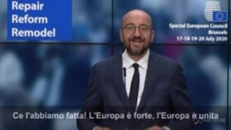 """Aiuti Ue, Michel: """"L'Europa è forte e unita"""""""