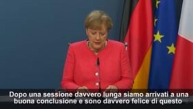 "Aiuti Ue, Merkel: ""Eventi straordinari richiedono metodi straordinari"""