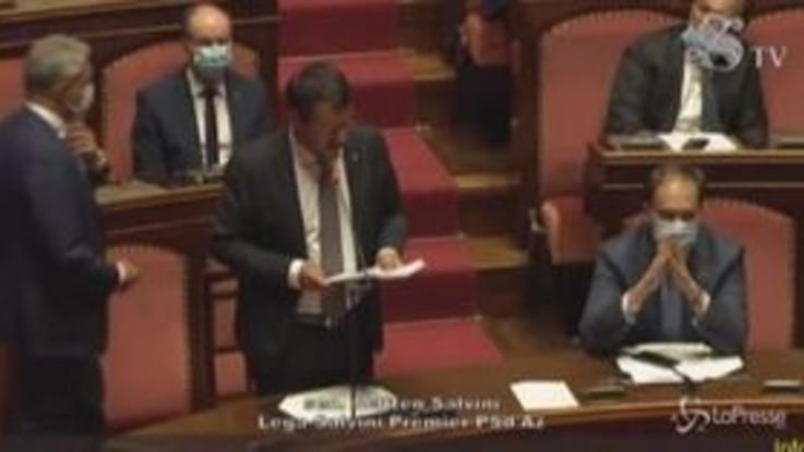 """Accordo Ue, Salvini: """"Prestito strano, ci dicono come spendere i nostri soldi"""""""