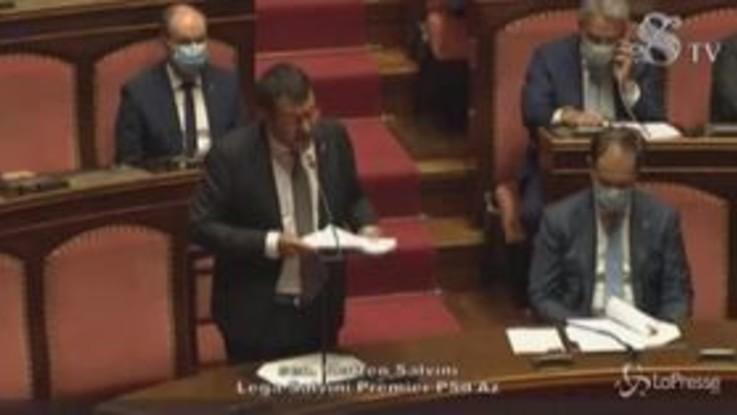 """Salvini a Conte: """"In bocca al lupo, ma finora troppe promesse"""""""