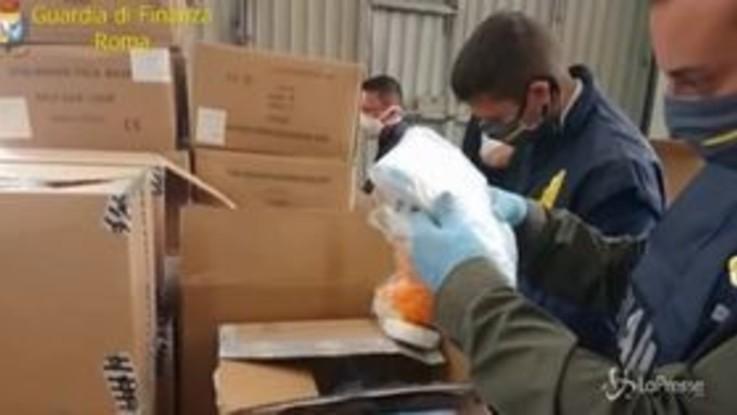 Covid-19, sequestrate oltre 320mila mascherine non sicure a Roma