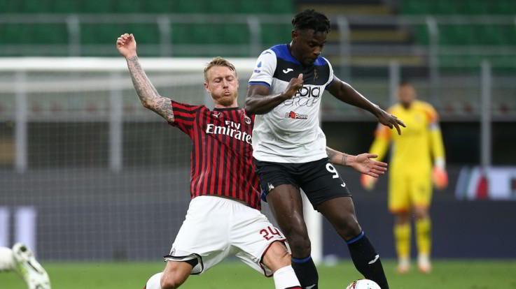 Il Milan frena la corsa dell'Atalanta: Calhanoglu apre, risponde Zapata