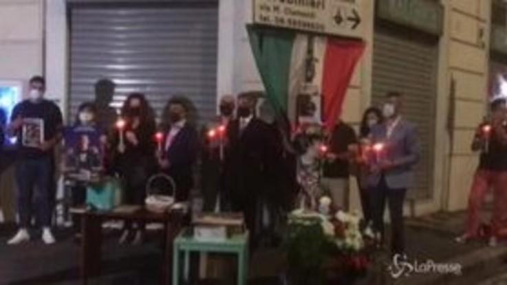 Cerciello Rega, a Roma fiaccolata in ricordo del carabiniere ucciso un anno fa