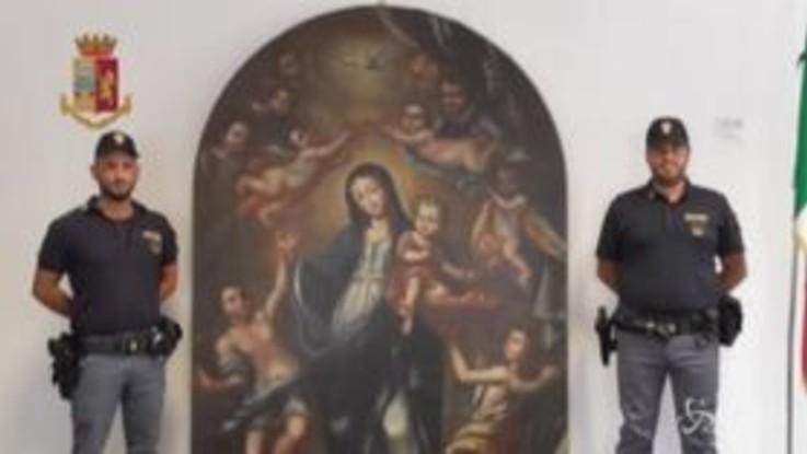 Palermo, riconsegnata alla Diocesi di Monreale preziosa tela rubata nel 1970