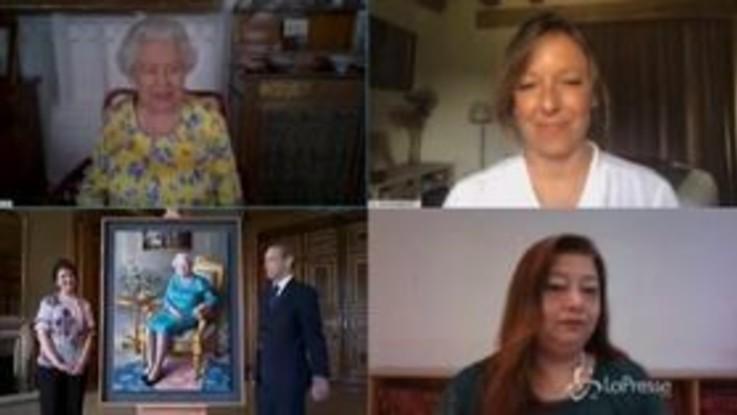 Nuovo ritratto per la regina Elisabetta: per la sovrana cerimonia su Zoom