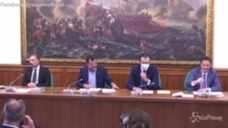 """Dl agosto, Salvini: """"Da governo mutismo e sordità totali"""""""