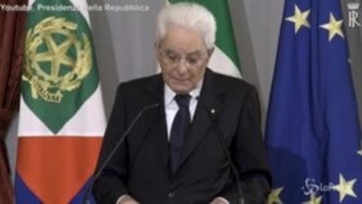 """Mattarella: """"Non confondere libertà con diritto far ammalare gli altri"""""""