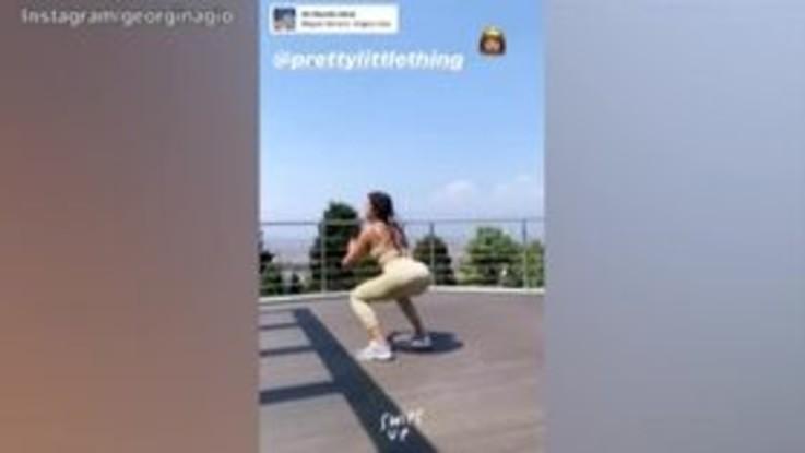 L'allenamento di Lady Ronaldo, lo squat diventa super sexy