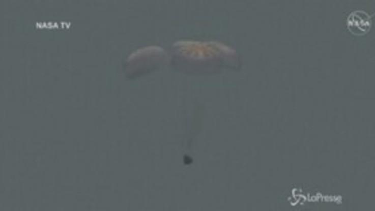 Space X Crew Dragon: le immagini dell'ammaraggio
