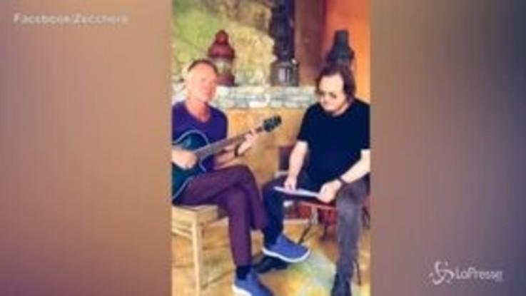 """Sting-Zucchero, duetto in italiano sulle note di """"Fields of Gold"""""""
