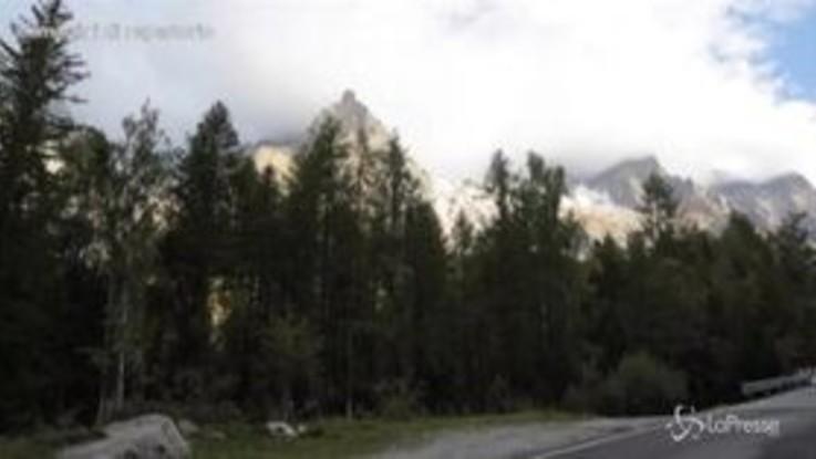 Il ghiacciaio si scioglie, evacuazione in Val Ferret