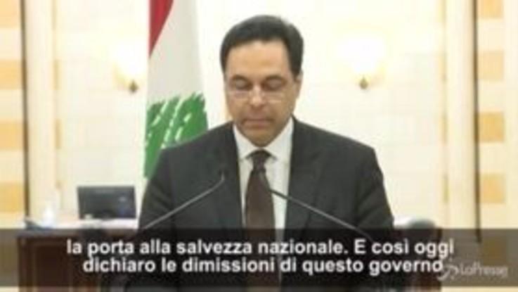 Libano, premier Diab annuncia dimissioni del governo