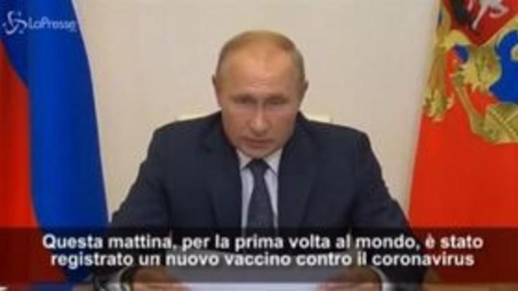 """Coronavirus, l'annuncio di Putin: """"In Russia registrato il primo vaccino"""""""