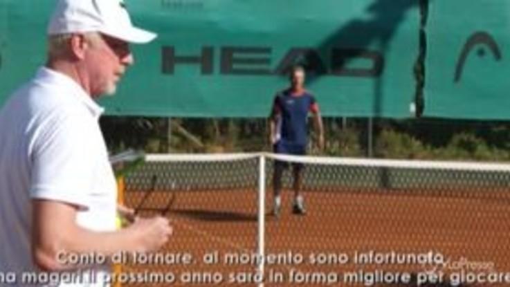 """Forte Village, Boris Becker alla Tennis Academy del resort: """"Ho sempre voluto venire qui"""""""