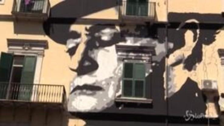 Napoli, nuovo murales dedicato a Totò nel Rione Sanità
