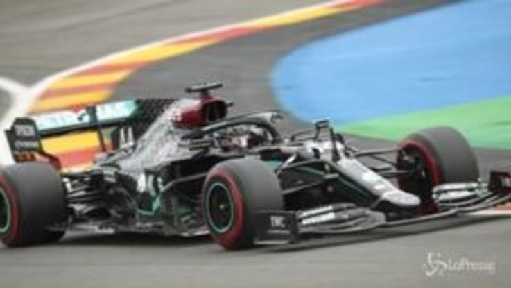 Gp Belgio, prima fila per le Mercedes