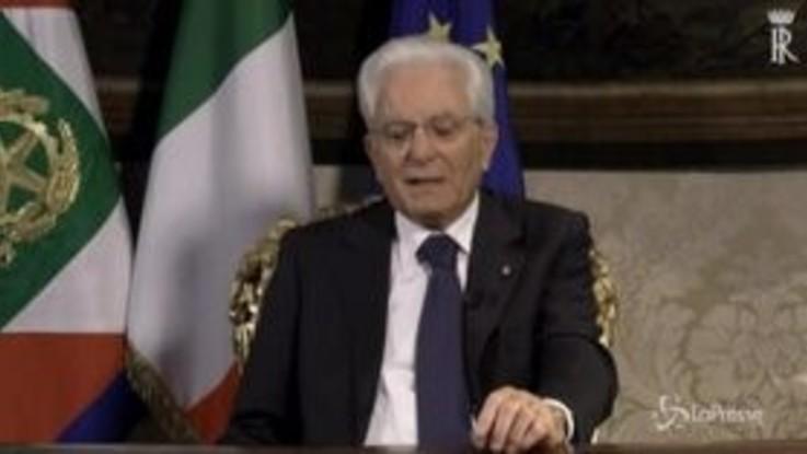 """Mattarella: """"Durante pandemia Ue ha ritrovato spirito padri fondatori"""""""