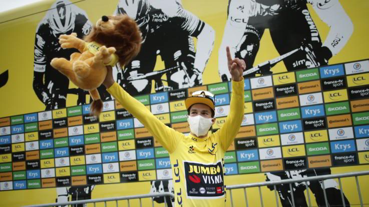 Tour de France: 9/a tappa a Pogacar, Roglic maglia gialla