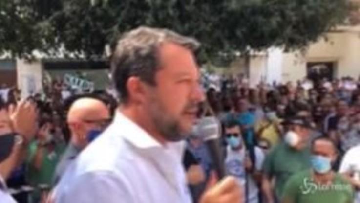 """Salvini: """"Torno al governo da presidente del Consiglio"""""""
