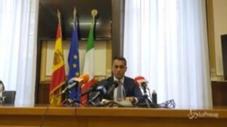 """Libia, Di Maio: """"Tregua deve portare a cessate il fuoco"""""""