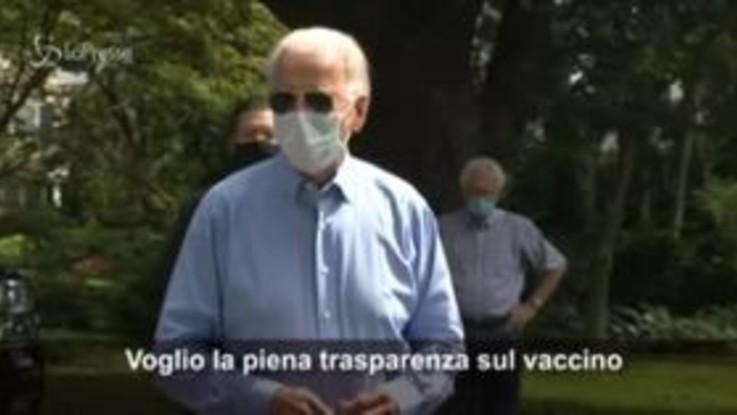 """Coronavirus, Biden: """"Voglio piena trasparenza sul vaccino"""""""
