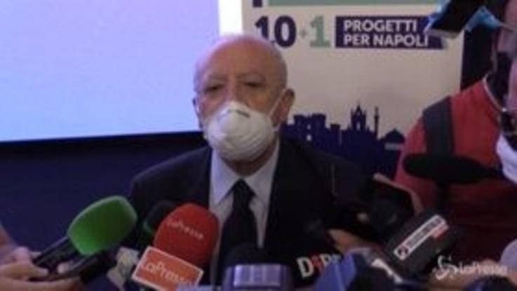 """Napoli, De Luca: """"Regione finanzia interventi per modernizzazione"""""""