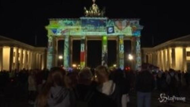Berlino, la capitale tedesca si illumina per il 'Festival delle luci'