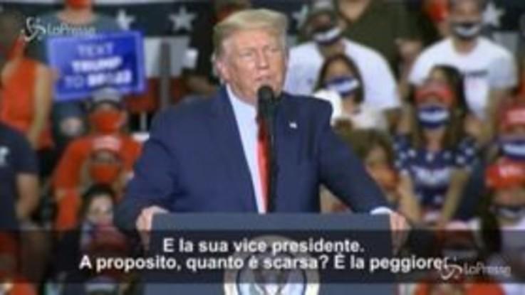 """Usa2020, Trump: """"Joe Biden non va bene, abbiamo bisogno di persone intelligenti"""""""