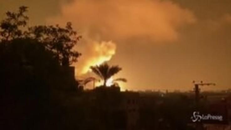 Gaza, razzi verso Israele: la risposta di Tel Aviv