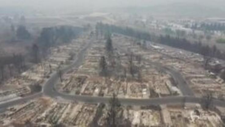 Oregon: il drone sorvola le zone devastate dalle fiamme