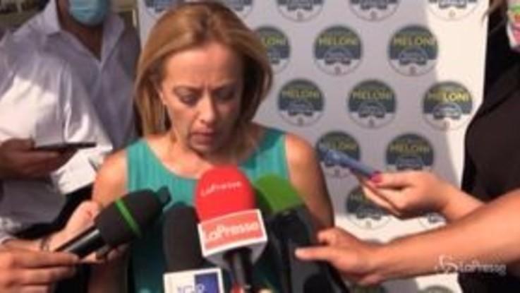 """Gavettone a Di Maio, Meloni: """"Mi dispiace per lui"""""""