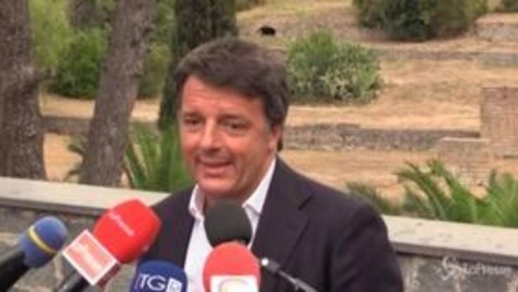 """Regionali, Renzi: """"Abbiamo mandato a casa Salvini, no a matrimonio con i grillini"""""""