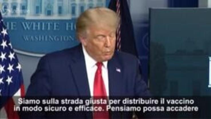 """Vaccino Covid, Trump: """"Pronto dopo metà ottobre"""""""