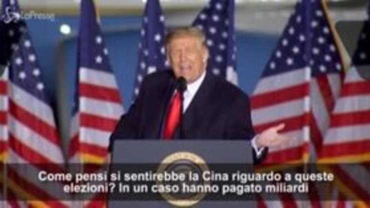 """Trump: """"L'agenda di Biden è fatta in Cina. La mia negli Usa"""""""