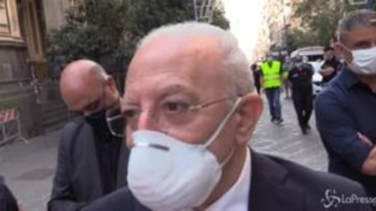 """San Gennaro, De Luca: """"Al Patrono chiediamo sicurezza e lavoro"""""""