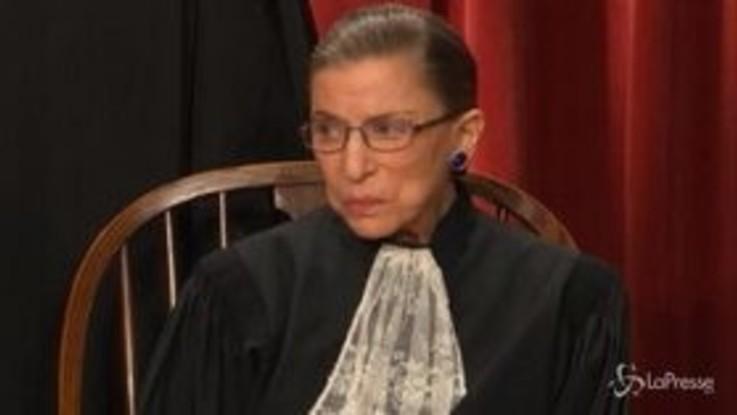 Usa, addio al giudice Ruth Ginsburg