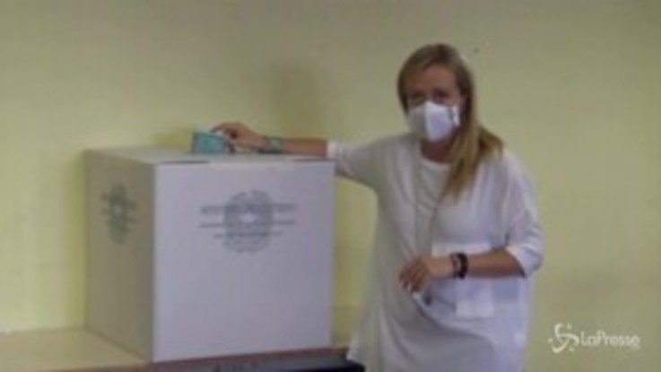 Election day, Giorgia Meloni al voto a Roma