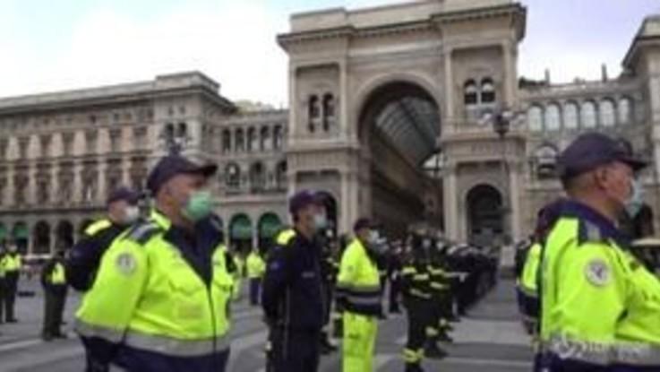 """Covid, Borrelli ringrazia la Protezione Civile lombarda: """"Il sistema ha retto grazie a voi"""""""