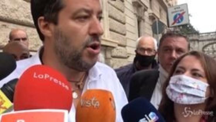 """Regionali, Salvini: """"Oggi sentirò Berlusconi e Meloni"""""""