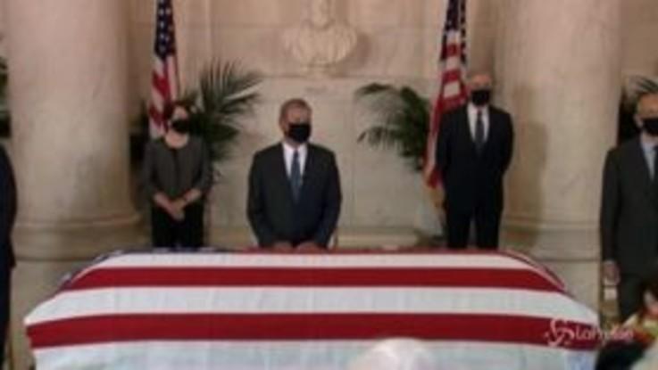 Usa: il feretro della giudice Ginsburg arriva alla Corte Suprema