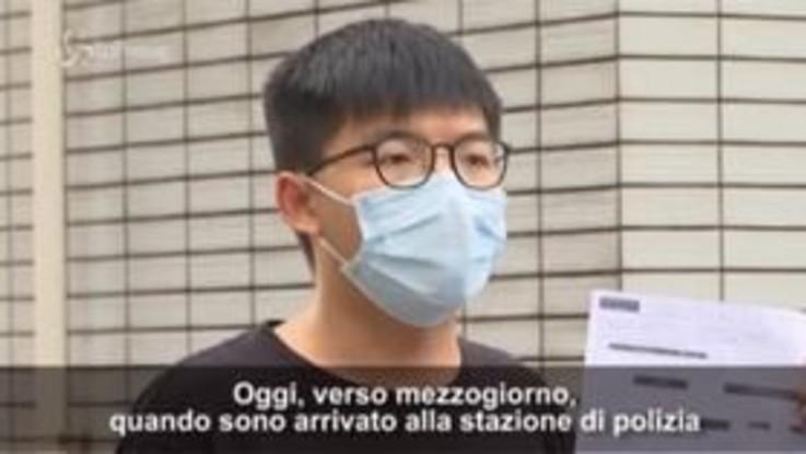 """Hong Kong, Joshua Wong: """"Non mi arrendo, continuo a resistere"""""""